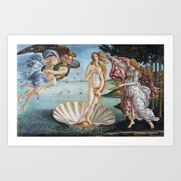 Botticelli's The Birth of Venus (High Resolution) Art Print
