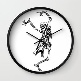 DANCING SKULL Wall Clock