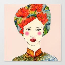lotus girl Canvas Print