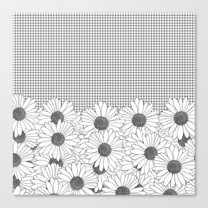 Daisy Grid Canvas Print