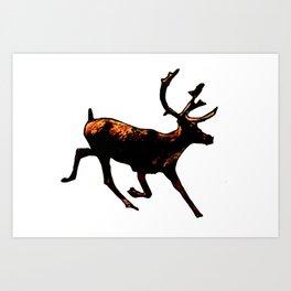 The Mighty Moose Mongoose Reindeer Elk Rentier Caribou Art Print