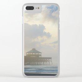Folly Pier Mist 1 Clear iPhone Case