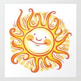 Happy Sun Art Print