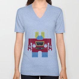 Robot 8-Ps Unisex V-Neck
