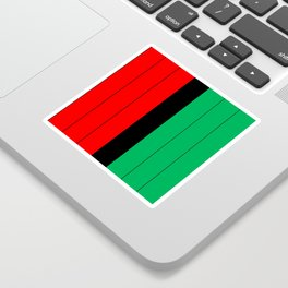 Kwanzaa Red Black Green Stripes Sticker