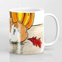Autumn guinea pig with apples and pumpkin Coffee Mug
