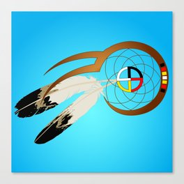 dreamcatcher blue Canvas Print