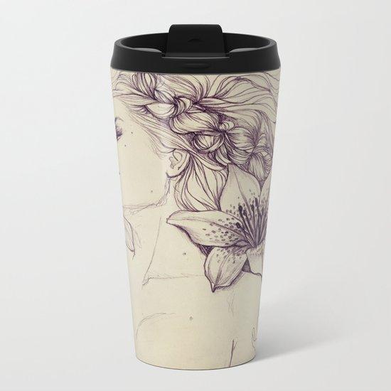 Lion's mane Metal Travel Mug