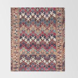 Kagizman Gaziantep Southeast Anatolian Rug Print Throw Blanket
