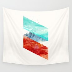 Mountain Stripes Wall Tapestry