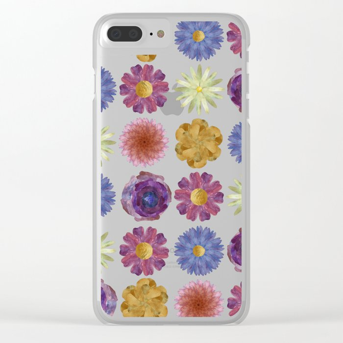 For Her ! Flowers Clear iPhone Case