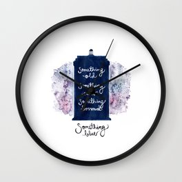 tardis - doctor who Wall Clock