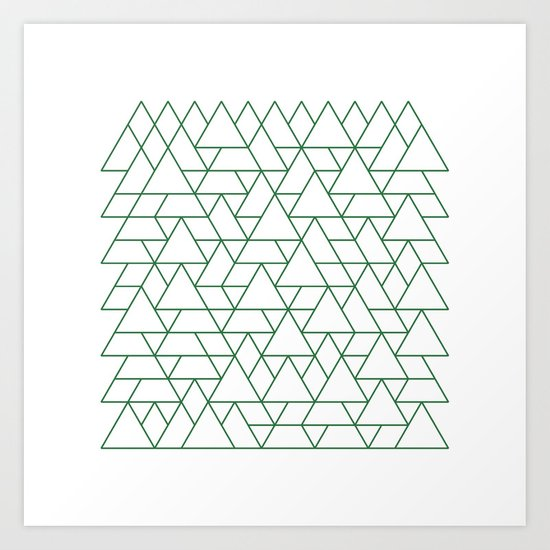 #264 Mountain range – Geometry Daily Art Print