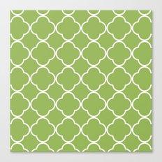 Quatrefoil greenery Canvas Print