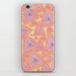 psychedelic triangles iPhone Skin