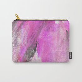 Artistic purple pink black watercolor painting brushstrokes Carry-All Pouch