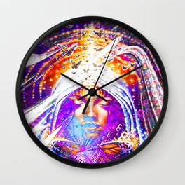 The happiness is as a butterfly: he flies without ever looking behind. Wall Clock