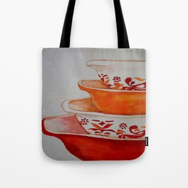 Friendship and Americana Vintage Orange Pyrex Tote Bag