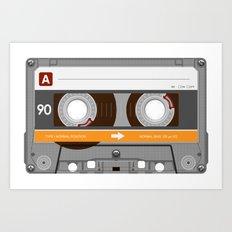 K7 Cassette 6 Art Print