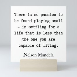 13  | Nelson Mandela  Quotes | 190818 Mini Art Print