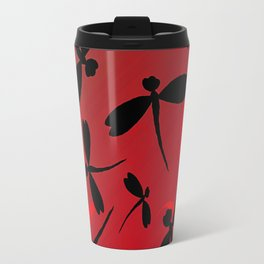 Dragonflies in the Light of the Fire Travel Mug
