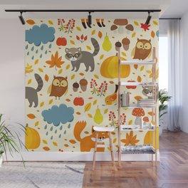 Woodland Animals Wall Mural