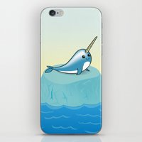 narwhal iPhone & iPod Skins featuring narwhal by bunnyandbird
