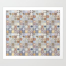 Tile texture Art Print