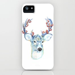 Christmas Deer - Forest animals series iPhone Case