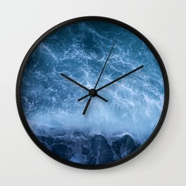 Waves from above Wall Clock
