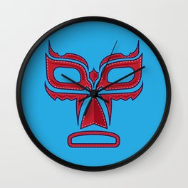 Luchador Mask Good Guy Wall Clock