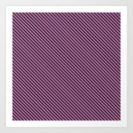 Bodacious and Black Stripe Art Print