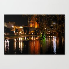Night Time on the Torrens Canvas Print