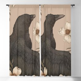 The Crow and Dogwoods Blackout Curtain