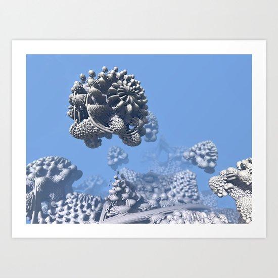 Stone Frog Art Print