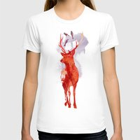 deer T-shirts featuring Useless Deer by Robert Farkas
