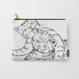 Kittens hug Carry-All Pouch