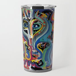 Black and White Street Art Color Photography Poster in Bologna Travel Mug
