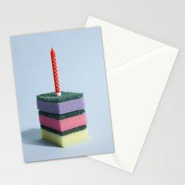 sponge cake rainbow Stationery Cards