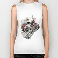 vespa Biker Tanks featuring Vespa by Mariqui Romero