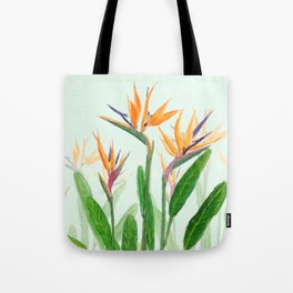 bird of paradise flower painting Tote Bag