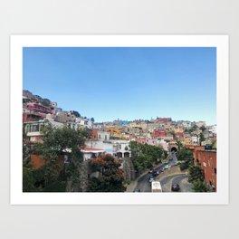 Brightly Colored Homes in Guanajuato City, Mexico Art Print