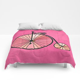 Old bicycle Comforters