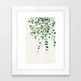 Eucalyptus Watercolor Framed Art Print