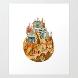 Circular village II Art Print