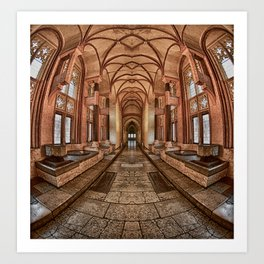 Inside the Polish Castle Art Print