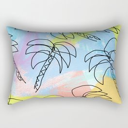 Live This Moment no.1 - illustration palm tree pattern summer tropical beach California pastel color Rectangular Pillow