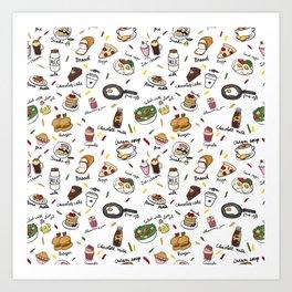 Muchies and Snacks Art Print