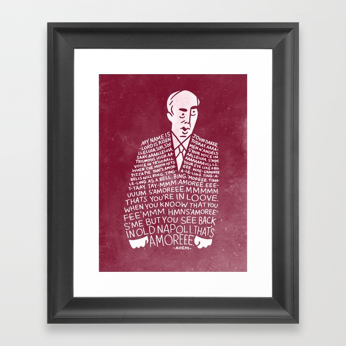 My Name is John Daker Framed Art Print by spencerfruhling | Society6