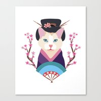 japanese Canvas Prints featuring Japanese by Holanes